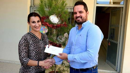 DONATION OF SHOE VOUCHERS TO CHILDREN OF POOR FAMILIES IN LARNACA FOR CHRISTMAS